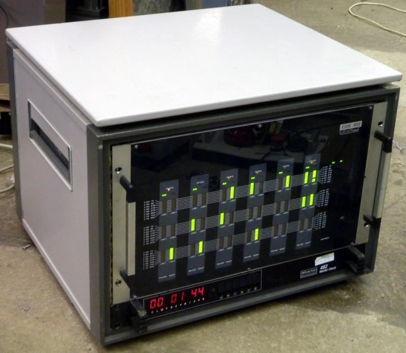 Desktop cabinet with green LED server panel