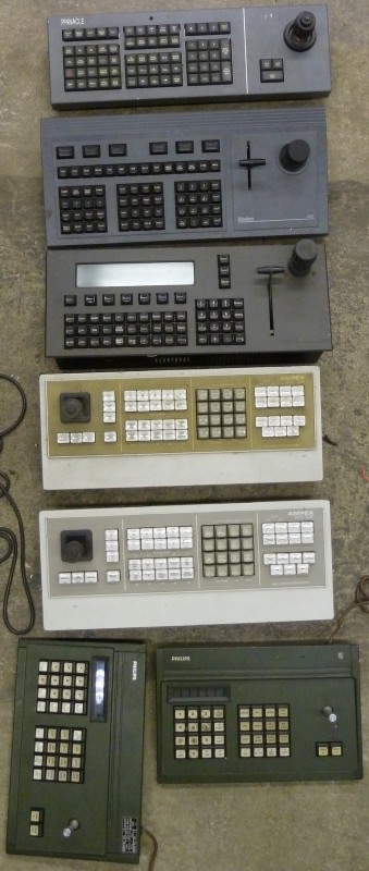 Example Selection of CCTV control desktop consoles