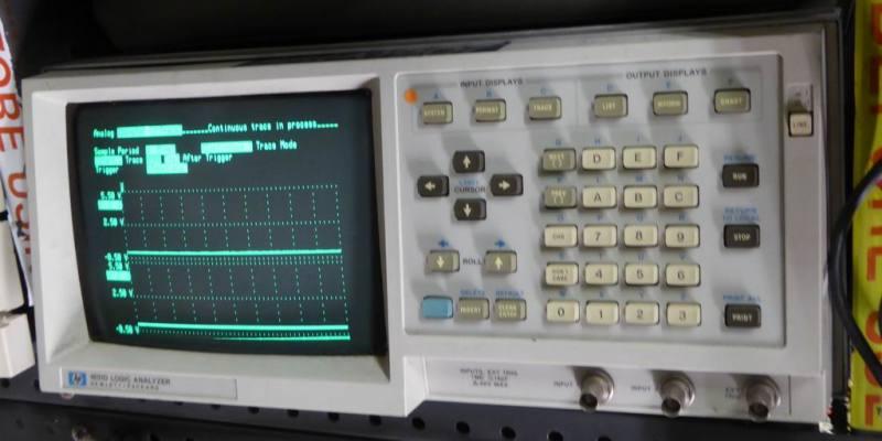 Hewlett Packard logic analyser