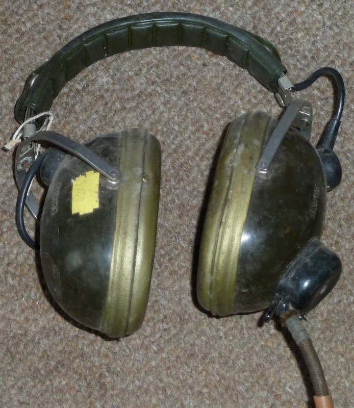 Khaki coloured military headphones