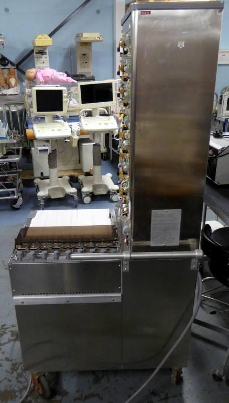 Practical large floor-standing 8 pen lie detector/alternative fact tester