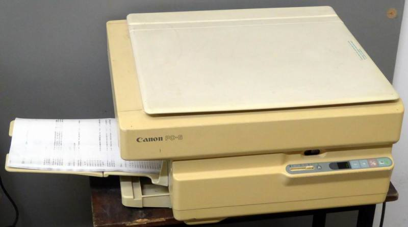 Practical 1980s - 1990s office photocopier photocopy
