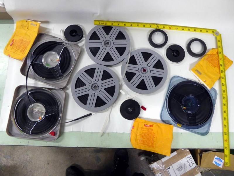 Selection of 8mm cine film spools