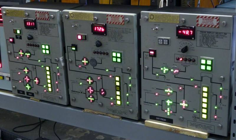 Practical heavy electrical boxes with coloured indicators