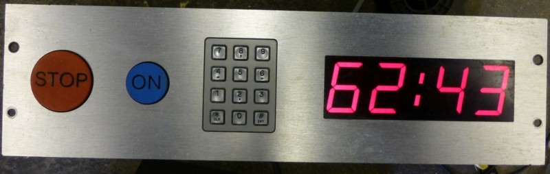 Control panel with programmable countdown timer