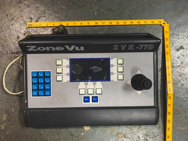 Grey CCTV console with Joystick (Zone Vu)
