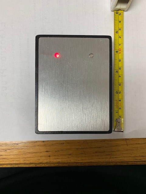 Sleek and simple card entry panel with red and green LED's