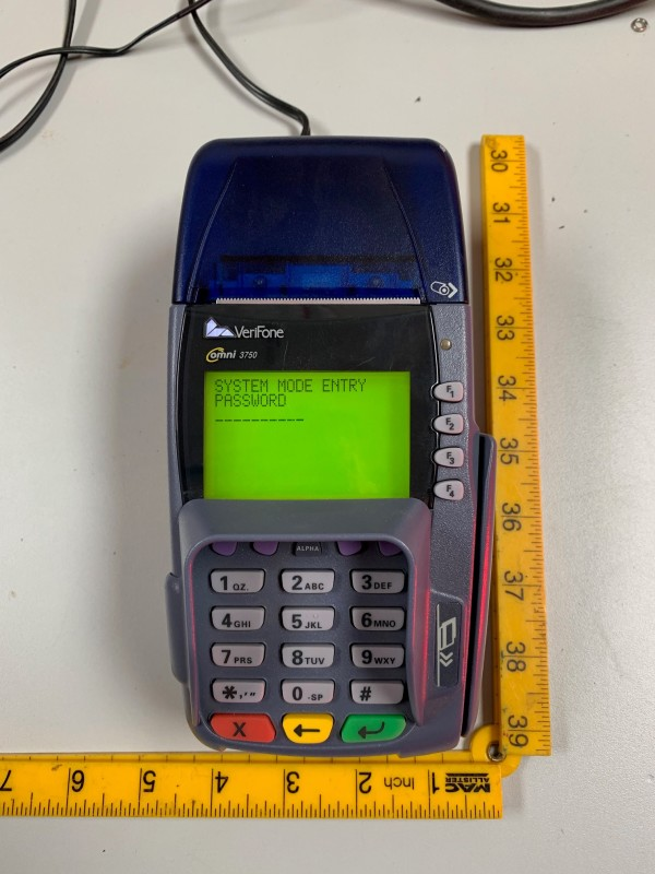 Practical chip and pin PDQ machine (Verifone omni 3750)