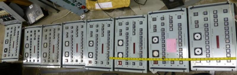 Run of navy/cold war communications control panels