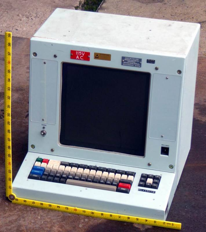 Cold war era computer terminal/VDU