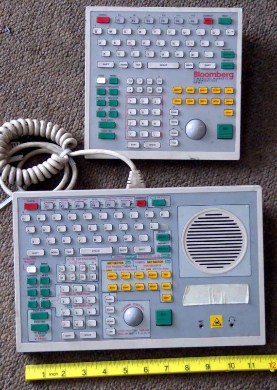 Financial dealers keyboard consoles [SORRY, LOST!]