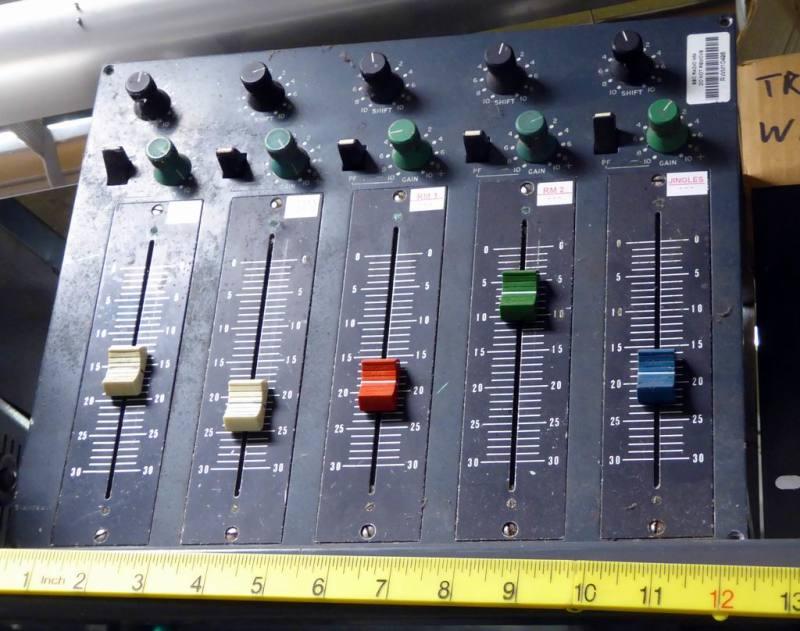 Recording/radio studio panels with faders