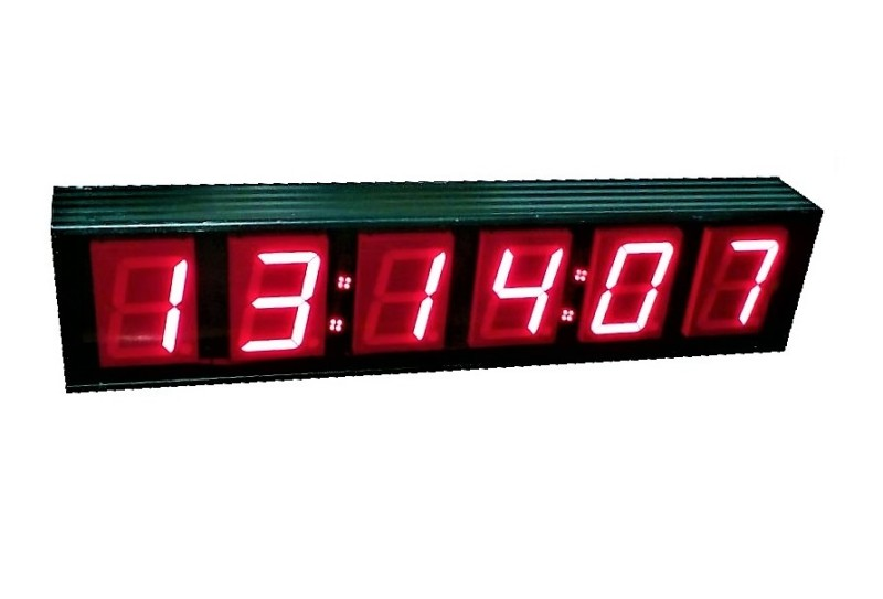 Practical film friendly 6 digit medium counter/timer/clock