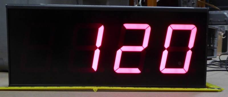 4 digit film friendly up/down counter/clock