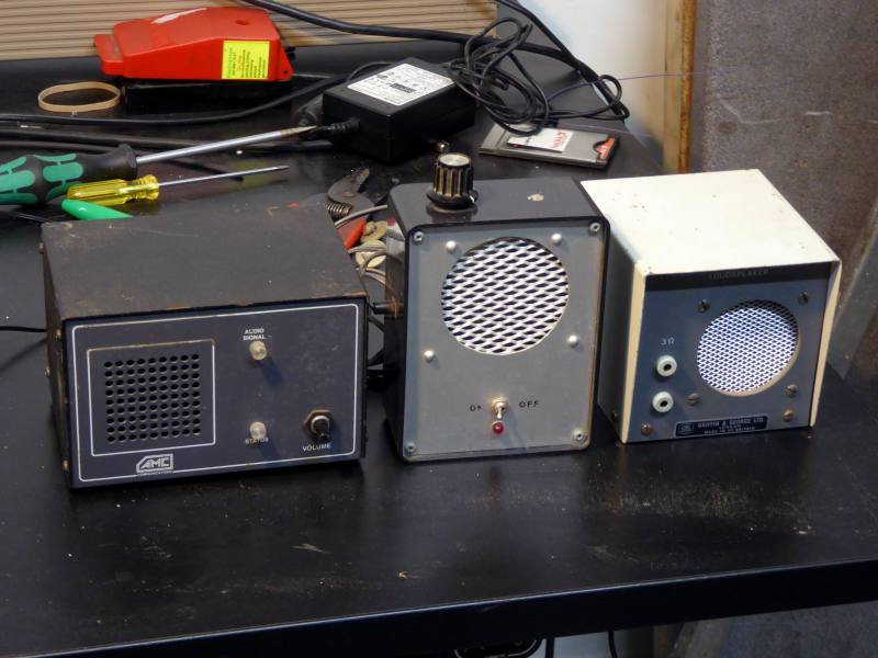 Selection of miniature period speakers with grilles