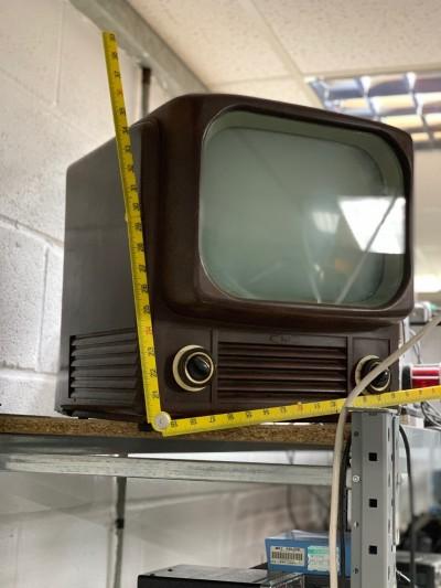 1950s Brown Bakelite Television