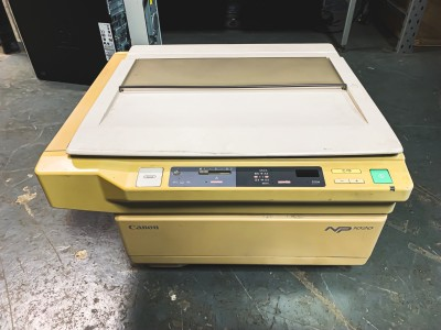 Practical 1980s - 1990s office photocopier photocopy (Canon NP1020)