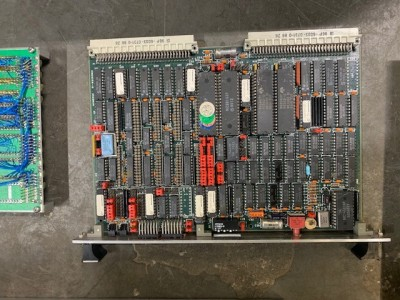 Circuit board with microprocessor chips