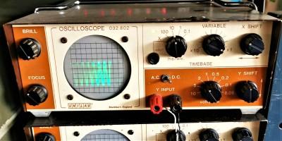 UNILAB brown and cream oscilloscope
