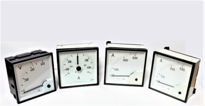 Selection of square analogue panel meters