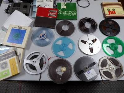 "Selection of 7"" audio tape spools"