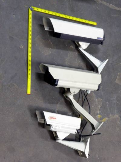 Selection of smaller traditional style external CCTV cameras & brackets