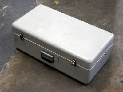 Light grey fibre glass flight case