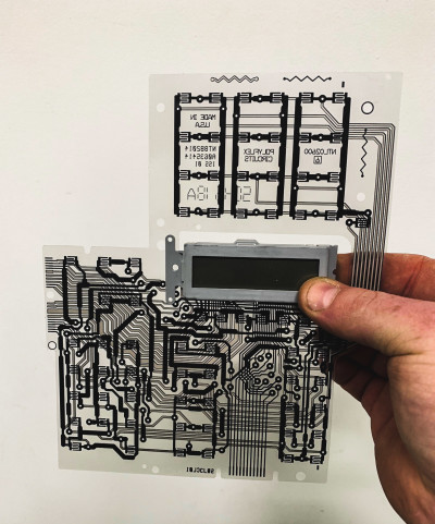 Transparent printed circuit acetate