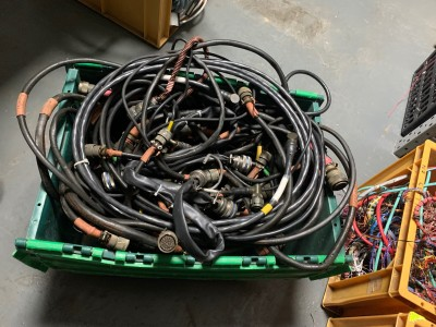 Crate of thick chunky cables