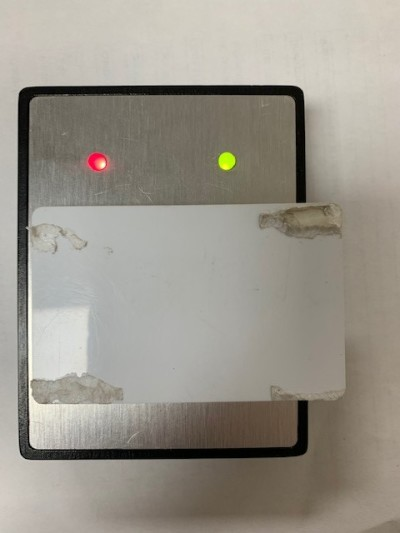 Sleek and simple card entry panel with red and green LED