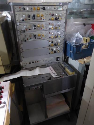 Non-practical floor standing lie detector/chart recorder