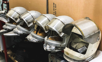 Retro looking space/fire resistant helmets