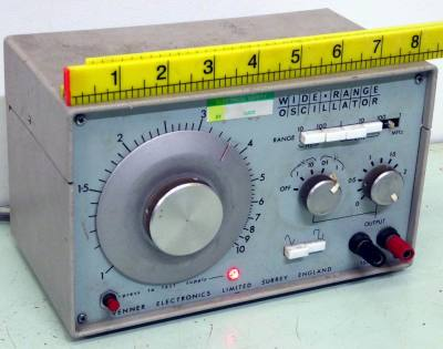 Electronics laboratory audio oscillator.