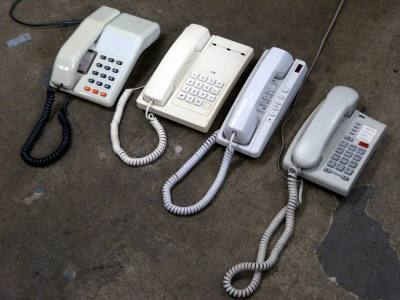 Selection of domestic telephones