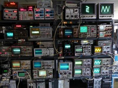 Illustrative selection of practical laboratory & workshop oscilloscopes.