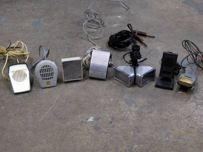 Selection of period desk/table microphones