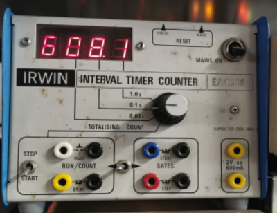 Irwin laboratory interval timer counter with red LED display