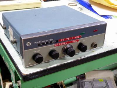 1950s-1960s taxi/police car radio transmitter/receiver