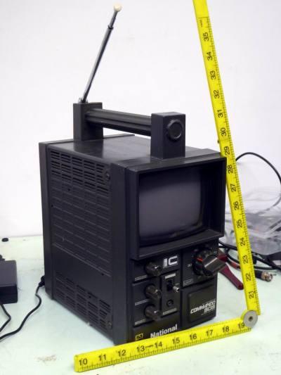 National Commando ruggedised portable TV