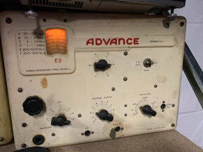 "Practical period roundy cornered electronics lab signal generator (""ADVANCE"")"