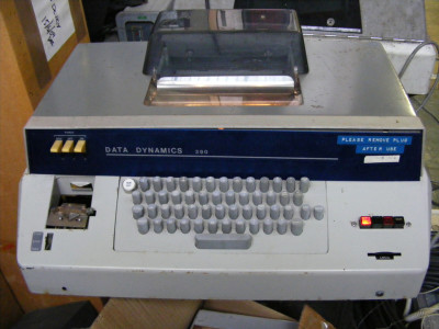 Period teleprinter, telex, Teletype, ticker tape machine
