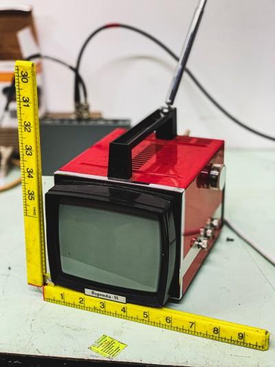 1970s Rigonda portable B&W TV