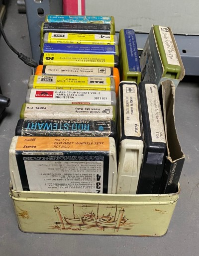 Selection of period 8 track stereo tapes