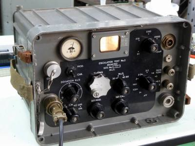 Practical ruggedised military oscillator/battlefield radio with illuminated tuning dial & crinkly knobs