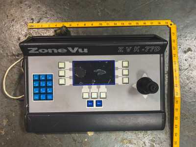 Grey CCTV console with Joystick (Zone Vu)