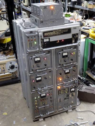 Russian/Soviet Union era cold war electronics racks