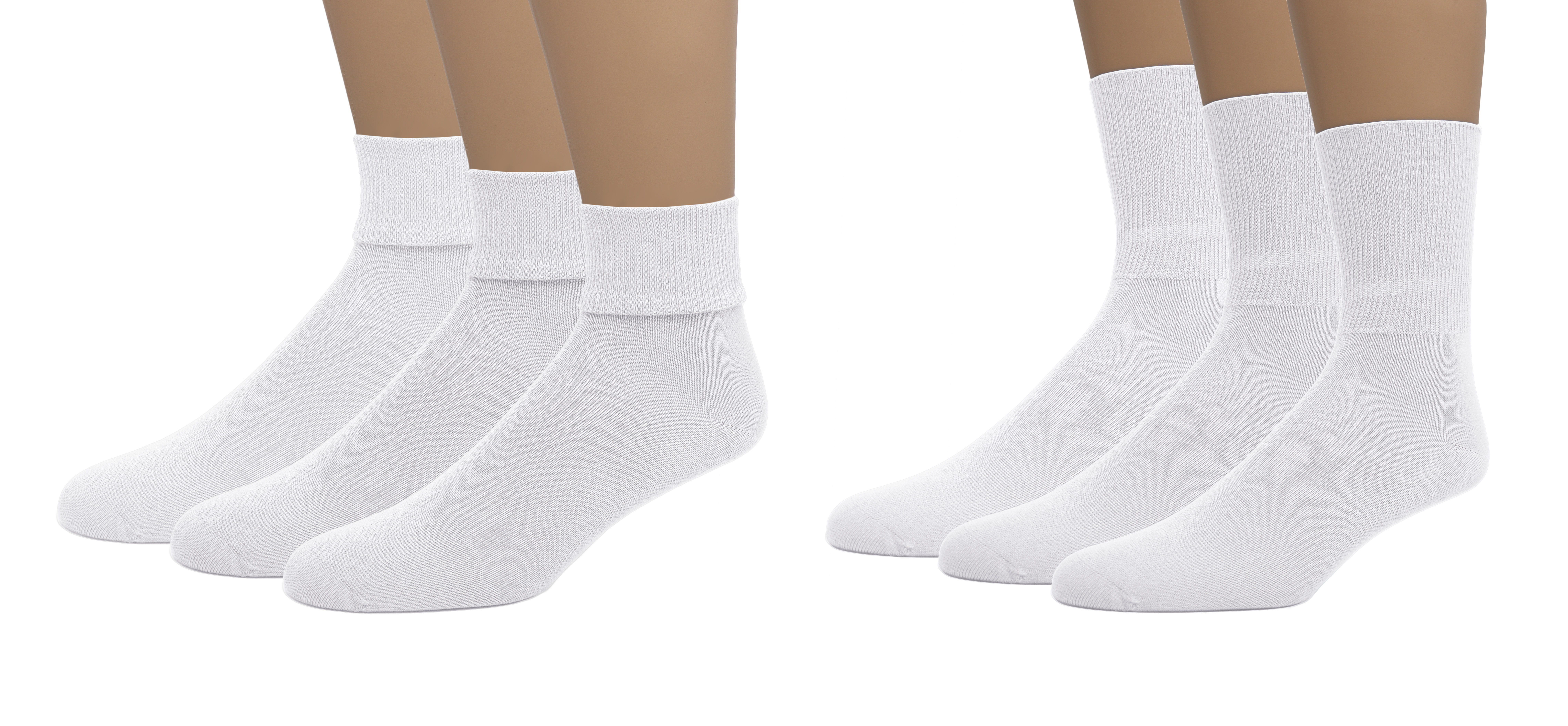 EMEM Apparel Unisex Kids Soft Bamboo Cotton Crew or Triple Roll Socks 3-Pairs