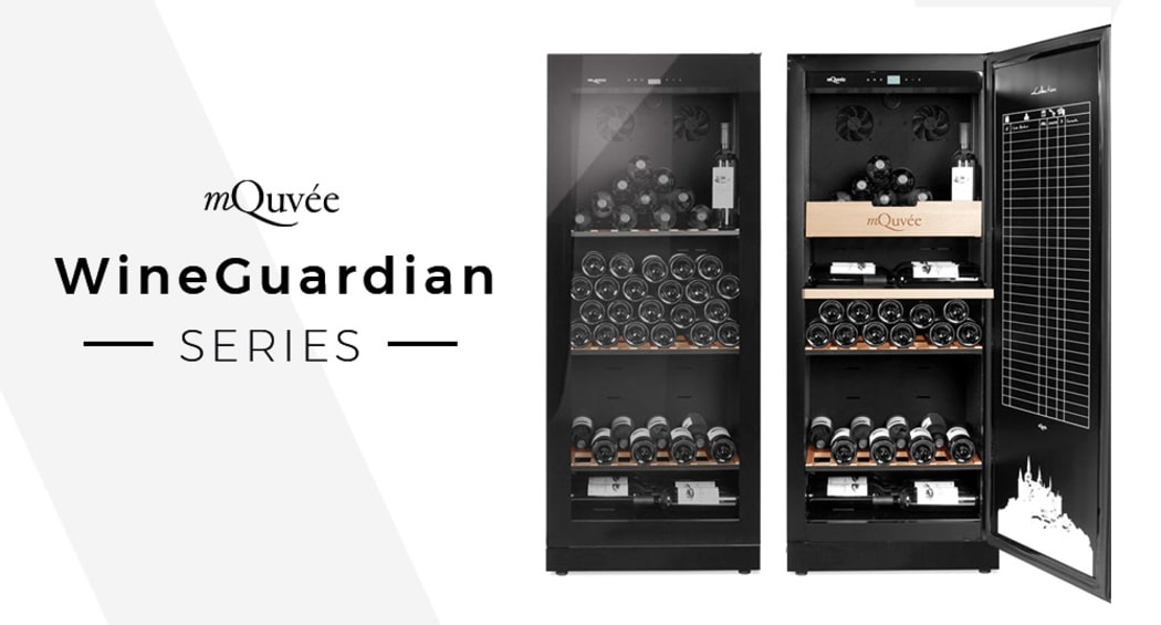 mQuvée WineGuardian - Wine storage cabinet with a black glass design