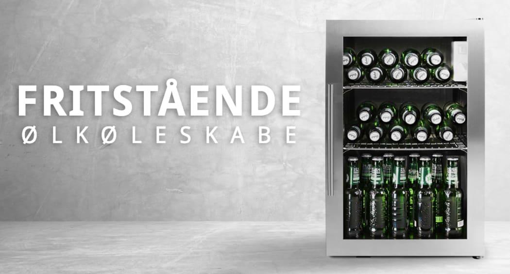Fritstående ølkøleskabe
