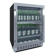 Ølkøleskab til indbygning i rustfrit stål - BeerServer 60 cm